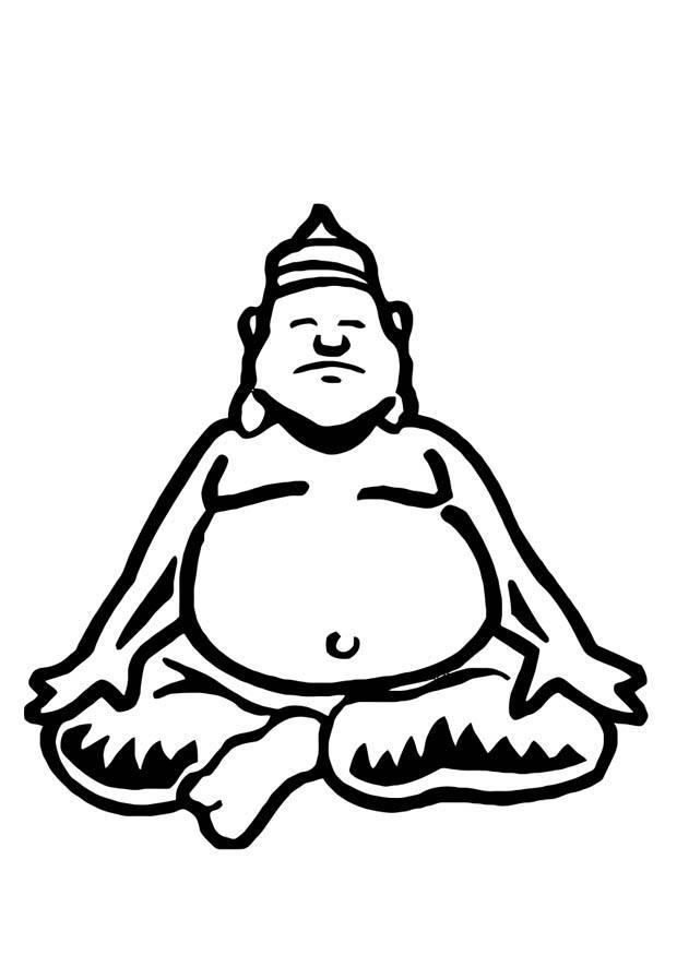 kleurplaat buddha afb 10961