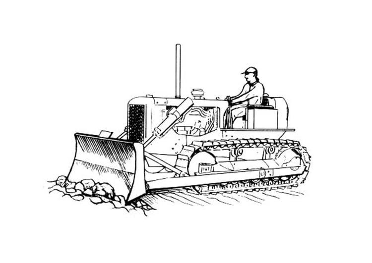 kleurplaat bulldozer afb 18822
