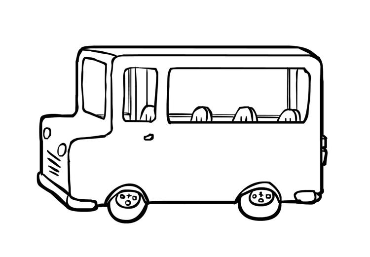 Kleurplaat Bus 2 Afb 14961