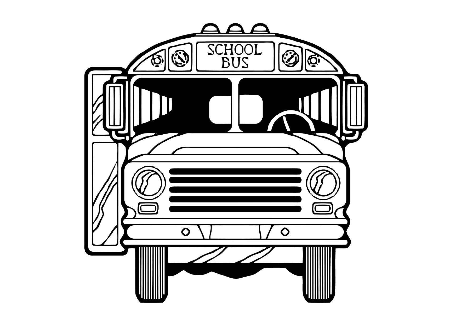 Kleurplaat Bus Afb 11434