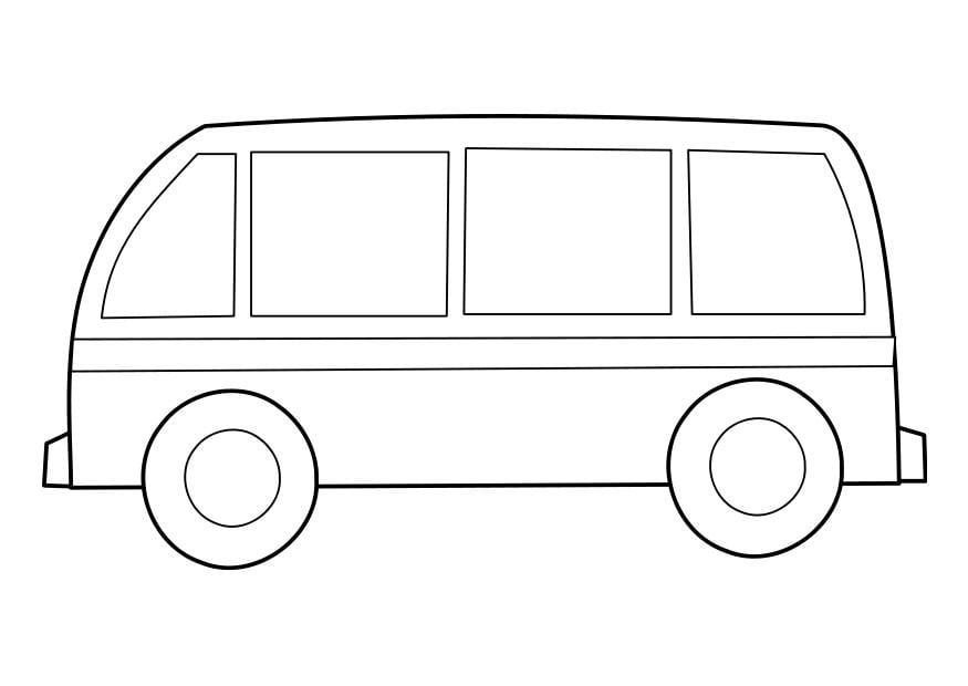 Kleurplaat Bus Afb 22855
