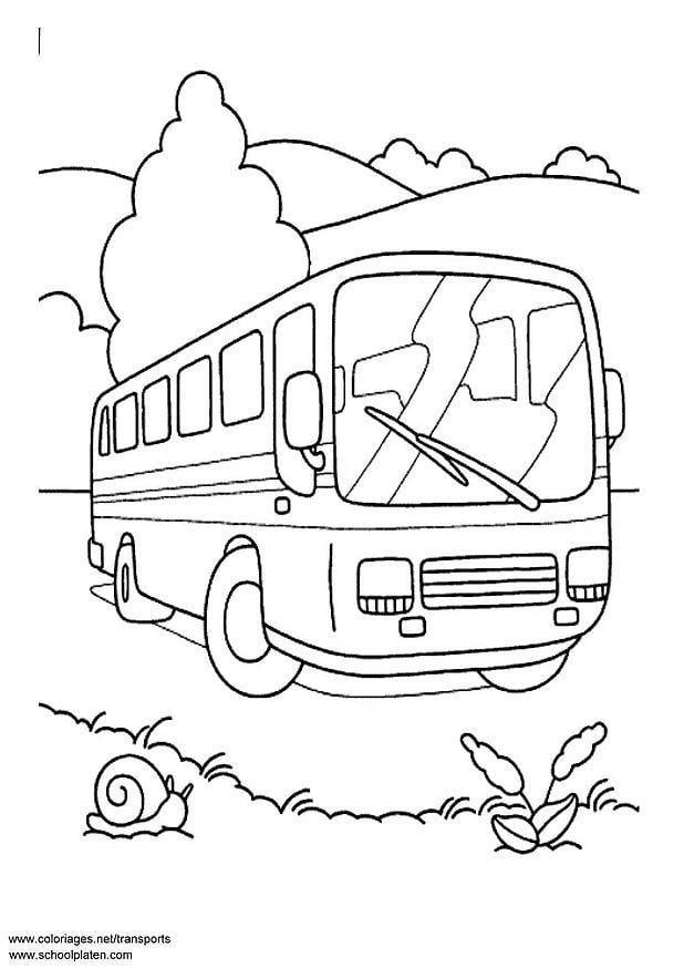 Kleurplaten Voertuigen Trein.Kleurplaat Bus Afb 3089