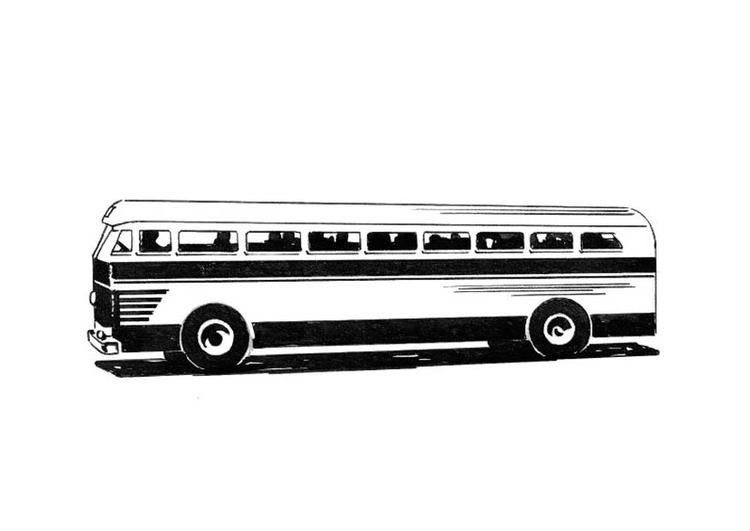 Kleurplaat Bus Afb 18744