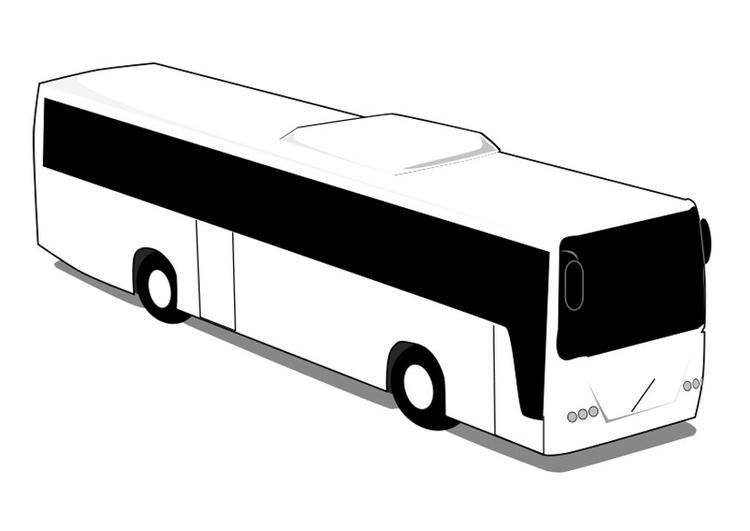 Kleurplaat Bus Afb 28013