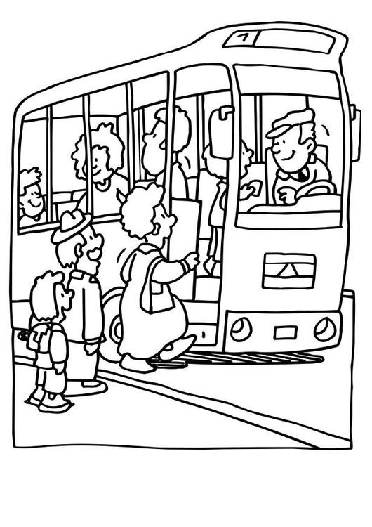 Kleurplaat Bus Afb 6486