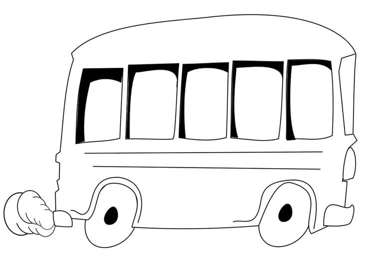 Kleurplaat Bus Afb 9966