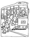 Kleurplaat bus