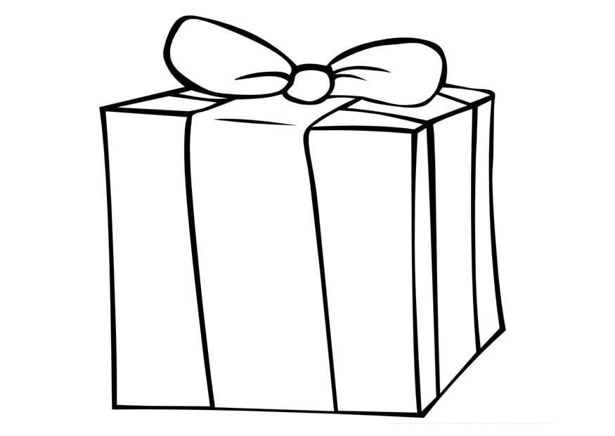 Kleurplaat Cadeau Afb 10000