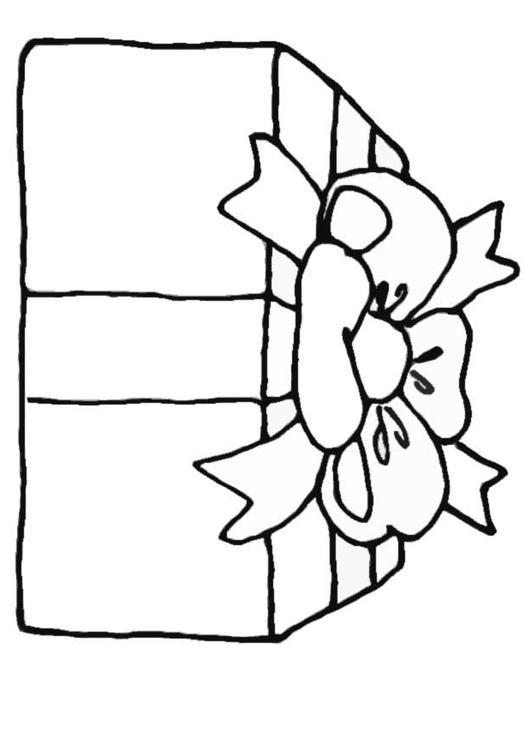 Cadeau Kleurplaat Kerst Kleurplaat Cadeau Afb 10957