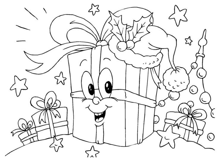 Kleurplaat Cadeautjes Afb 23381