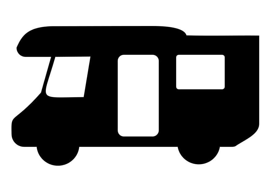 kleurplaat camper  afb 27661