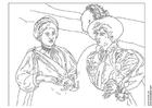 Kleurplaat Caravaggio