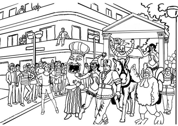 Grote Kleurplaten Carnaval.Kleurplaat Carnaval Afb 8041 Images