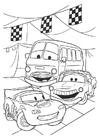 Kleurplaat Cars