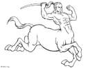 Kleurplaat centaur