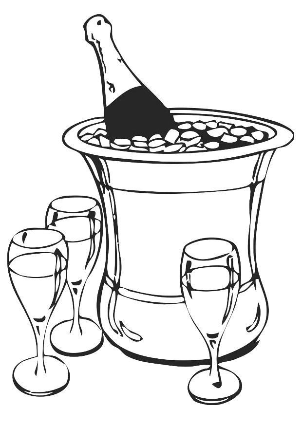 Parfum Kleurplaat Kleurplaat Champagne Afb 20237
