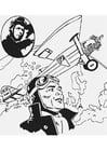 Kleurplaat Charles Lindbergh