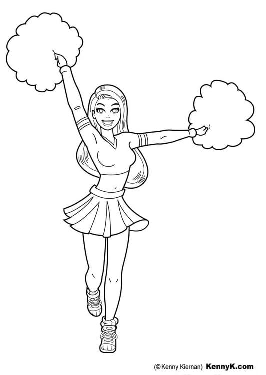 Kleurplaat cheerleader - Afb 20100.