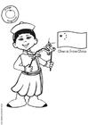 kleurplaat kinderen culturen afb 26966