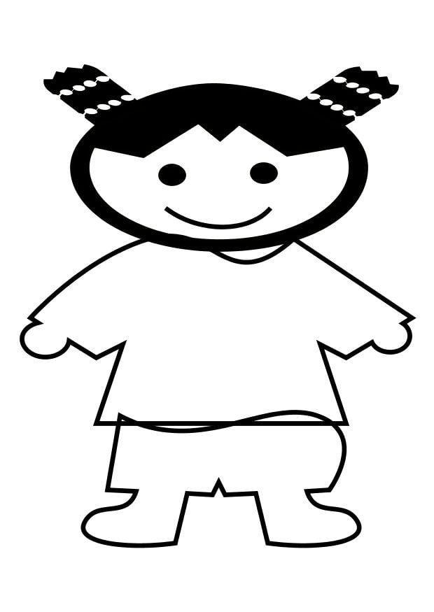 kleurplaat chinees meisje gratis kleurplaten om te printen