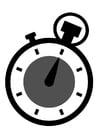 Kleurplaat chronometer