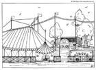 Kleurplaat circus