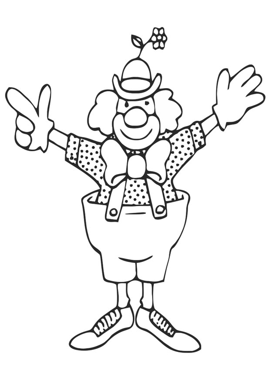 Kleurplaten Kleurplaat Clown