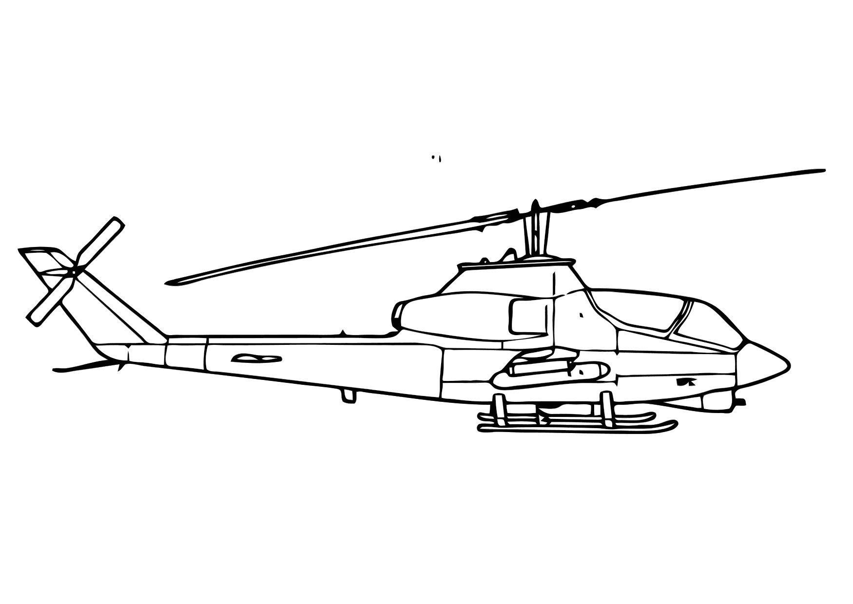 Afbeeldingen Kleurplaten Bus Kleurplaat Cobra Helicopter Afb 11307