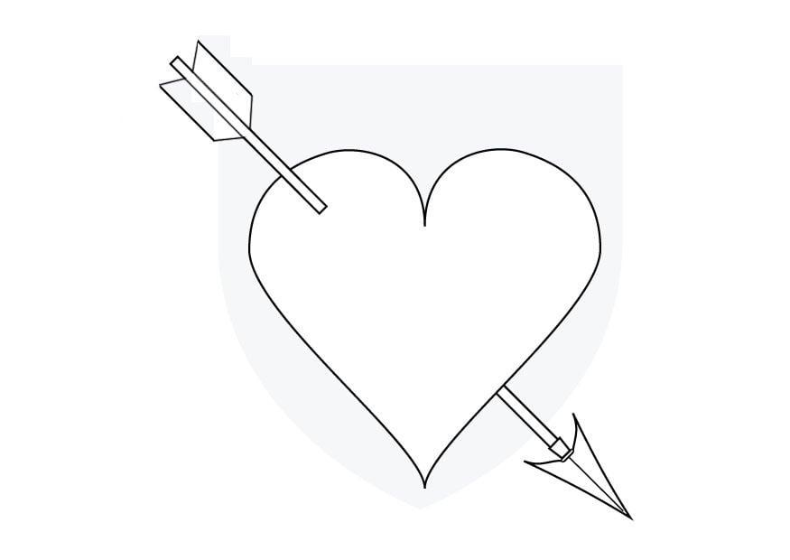 kleurplaat cupido hartje gratis kleurplaten om te printen