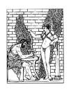 Kleurplaat Daedalus en Ikarus