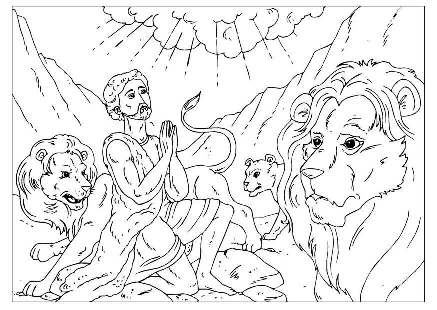 kleurplaat daniel in de leeuwenkuil gratis kleurplaten om