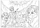 Kleurplaat Daniel in de leeuwenkuil