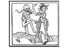 Kleurplaat dansen met de dood