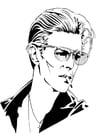 Kleurplaat David Bowie