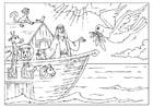 Kleurplaat de Ark van Noah