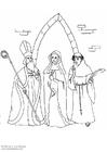 Kleurplaat De geestelijken