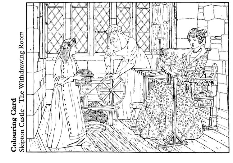 Gratis Kleurplaten Middeleeuwen.Kleurplaat De Ontvangstkamer Gratis Kleurplaten Om Te Printen