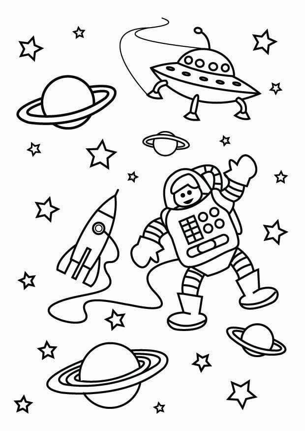 kleurplaten over ruimtevaart