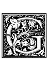 Kleurplaat decoratief alfabet - G