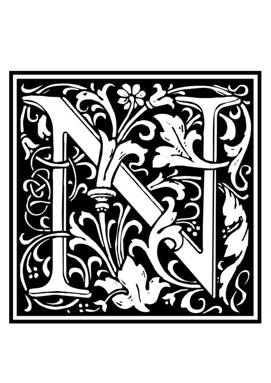 monogram kleurplaat