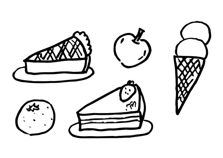 Afbeelding Cupcake Kleurplaat Kleurplaat Dessert Afb 12289 Images
