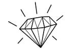 Kleurplaat diamant
