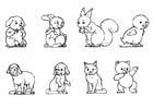 Kleurplaat dieren