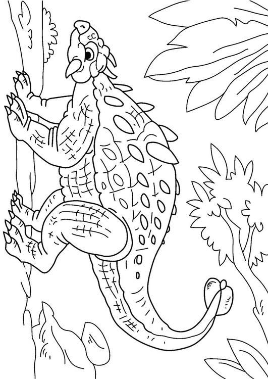 Oertijd Kleurplaat Kleurplaat Dinosaurus Ankylosaurus Afb 27630