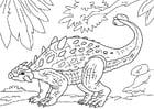 Kleurplaat dinosaurus - ankylosaurus