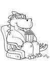 Kleurplaat dinosaurus naar de film