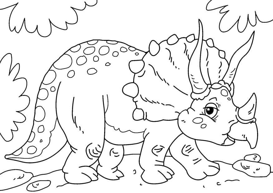 kleurplaat dinosaurus triceratops afb 27631