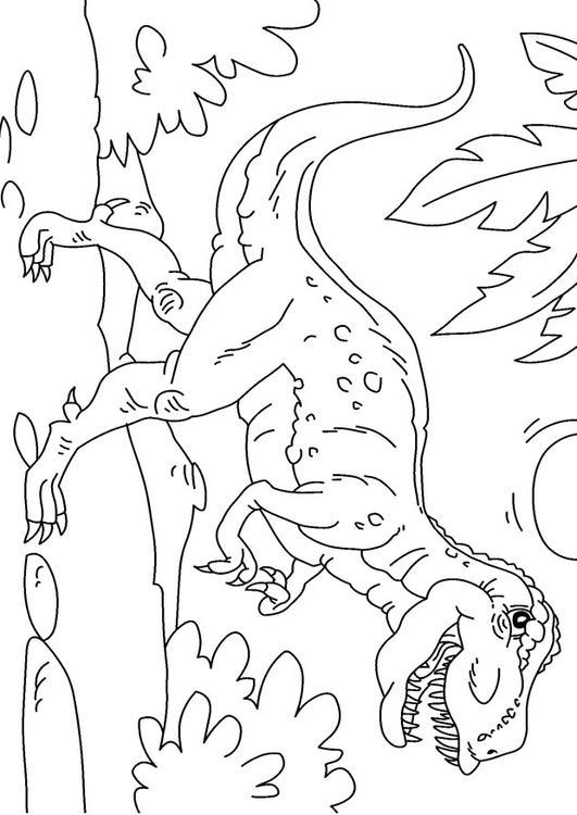 kleurplaat dinosaurus tyrannosaurus rex afb 27625