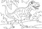 Kleurplaat dinosaurus - tyrannosaurus rex