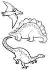 Kleurplaat dinosaurussen